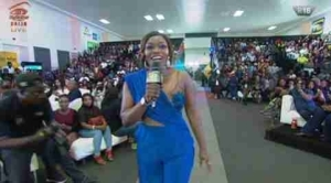 BBNaija 2018 Finale: Bisola Stuns As The Host At The Lagos Venue (Photos)